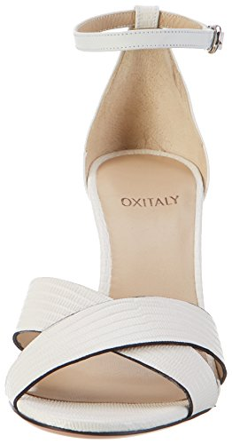 Oxitaly Safiana Femmes 113 Sandales Slingback Blanc (bianco)
