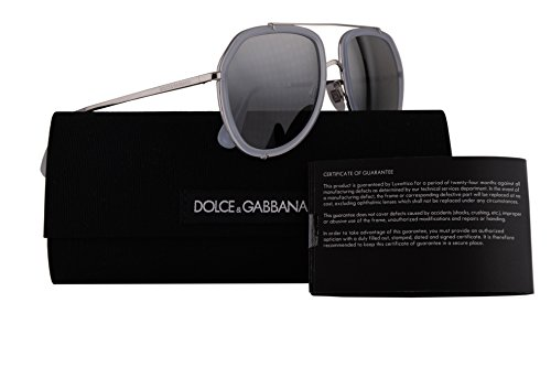 Dolce & Gabbana DG2161 Sunglasses Silver w/Grey Mirror Silver Gradient Lens 0588 DG - Cheap Dolce And Sunglasses Gabbana