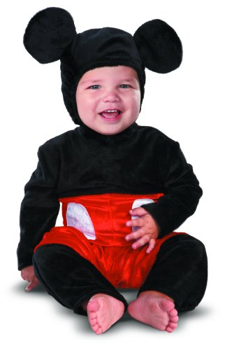 Disney Disguise Costumes Mickey Mouse Prestige Infant, Black/Red/White, 6-12 Months -