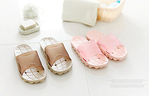 for Think Unisex Bathroom Slippers Sole Pool Slip Mule pink on Slide Shoes Adult Foams Beach Sandals slip Resin Non Shower nnzTwrZx
