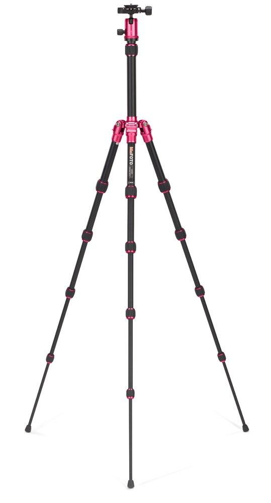 MeFoto Backpacker - Trípode Compacto telescópico (Aluminio, 5 Secciones), Color Rosa