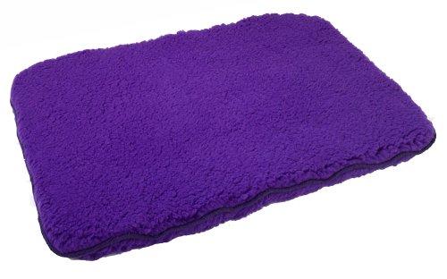 Unreal Lambskin Brute Synthetic Fleece Dog Bed, 18x24, Purple