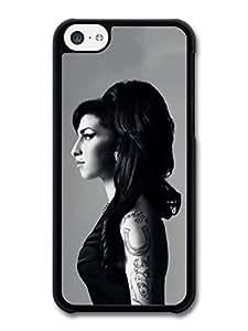 MMZ DIY PHONE CASEAmy Winehouse Black and White Posh Profile Portrait case for iphone 4/4s
