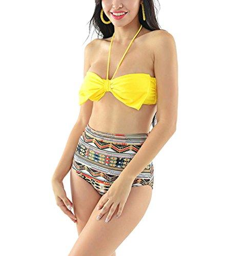 La Sra Cintura Del Arco Del Traje De Baño Bikini Atractivo De La Manera Multicolor 2