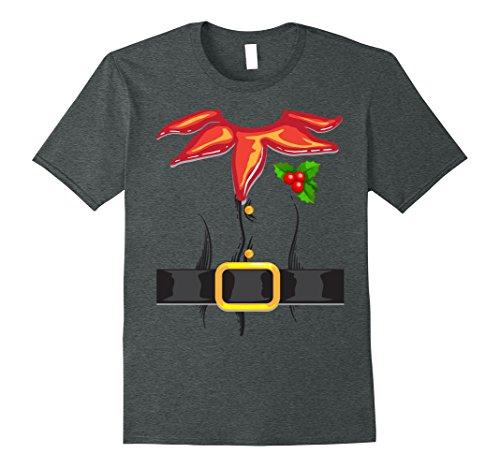 Mens Funny Christmas Elf Costume - Great Santa's Helper Xmas Gift Small Dark (Great Dark Elf Costumes)