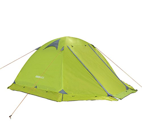 WoneNice Professional Camping Tent 3-4 season 2-person Double Layer Backpacking Dome Tent (Green – 4 season tent)