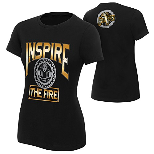 WWE Becky Lynch Inspire The Fire Women's T-Shirt Black Large by WWE Authentic Wear
