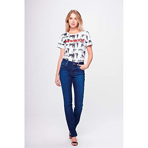 Calça Jeans Reta Básica Feminina Tam: 48 / Cor: Blue