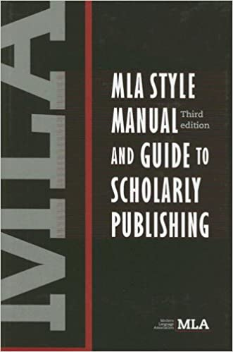 amazon com mla style manual and guide to scholarly publishing 3rd