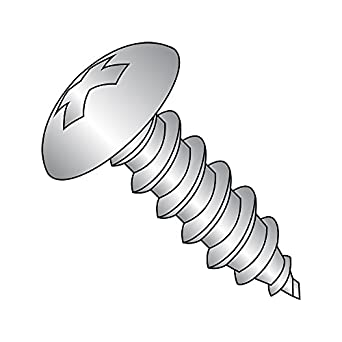 Pack of 50 18-8 Stainless Steel Sheet Metal Screw 1-3//4 Length Slotted Drive #8-15 Thread Size Type A Plain Finish Hex Washer Head