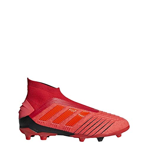adidas Predator 19+ FG Cleat - Kids Soccer 5.5 Action Red/Solar Red/Black