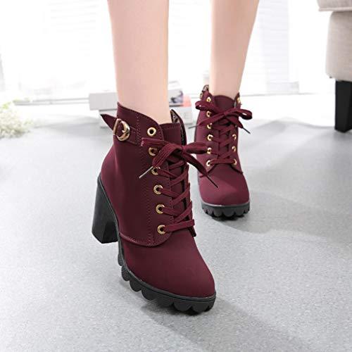 Mode Talon Boots Bottes Ankle Basse Rouge Hiver 2018 Élégant Chaussures Hautes Bottines À De Femme Neige Haut Plateforme Ciellte w4IB4qv