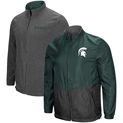 (Colosseum Michigan State Spartans Halfback Reversible Polar Fleece/Rain Jacket (XL))