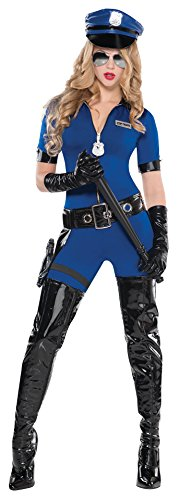 Amscan Women's Stop Traffic Police Officer Halloween Costume Medium (6-8)