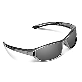 Ewin E31 Polarized Sports Sunglasses for Men Women Golf Travel Driving Fishing Trekking Walking Shopping