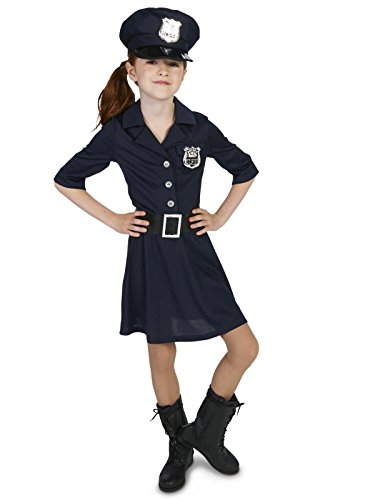 Dream Weavers Costumers Police Girl Child Costume M -