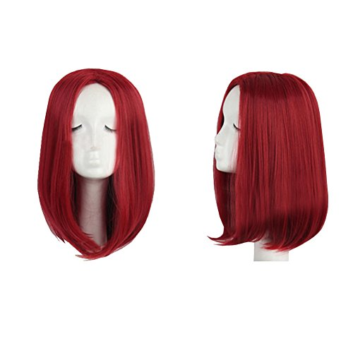Xcoser X Cosplay Men Mystique Wine Red Straight Wig Hair for Halloween (Mystique Costumes)