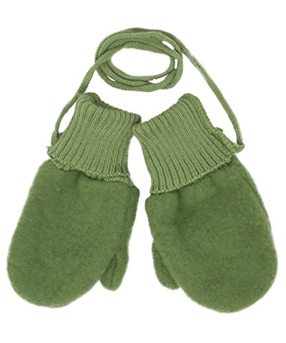 Toddler and Kids Mittens: Organic Merino Wool Snow Gloves with String (Sz 4 | 4-6 years, ()