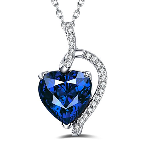 Caperci-Sterling-Silver-Diamond-Accent-Created-Gemstone-Heart-Pendant-Necklace-18