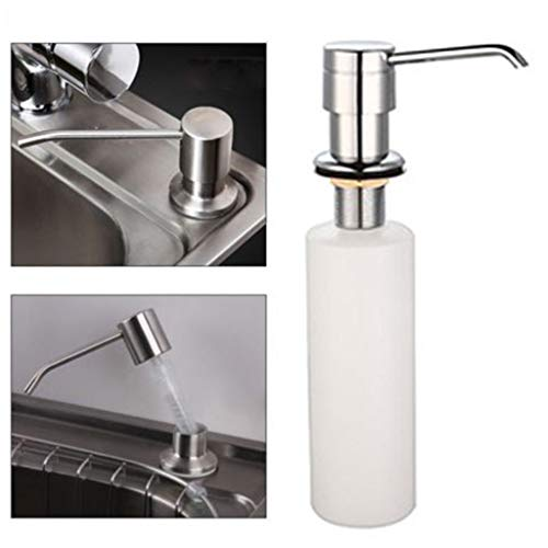 Soap dispenser Clearance , White Liquid Soap Dispenser Lotion Pump Cover Built in Kitchen Sink Countertop by Little Story