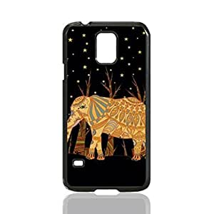 Beautiful Elephant in Night Custom Hard Plastic back Phones Case for Samsung Galaxy S5 I9600 - Galaxy S5 I9600 Case Cover