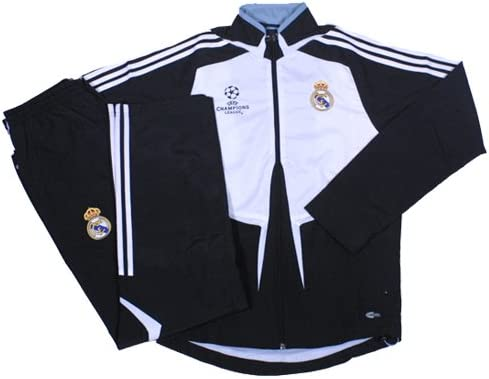 doble realimentación Accidentalmente  adidas - Real Madrid Chandal PRESENTACION Champions 08/09 Hombre Color:  Blanco Talla: XS: Amazon.es: Deportes y aire libre