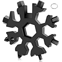 Sneeuwvlok Multitool 18-in-1 draagbaar roestvrij staal multifunctioneel gereedschap, schroevendraaier flesopener…