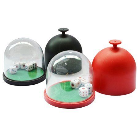 (Smartdealspro Random Color Professional Dice Roller Cup Domes with 5 Dices)