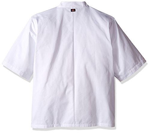 Dickies Chef Classic 10 Button Short-Sleeve Coat, White, XXX-Large by Dickies (Image #2)