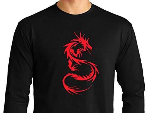Dragón 02 Camiseta Hombre de Manga Larga