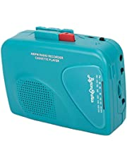 Byron Statics Portable Cassette Players Recorders FM AM Radio Walkman Tape Player Built in Mic External Speakers Manual Record VAS Automatic Stop System 2AA Battery Or USB Power Supply Headphone