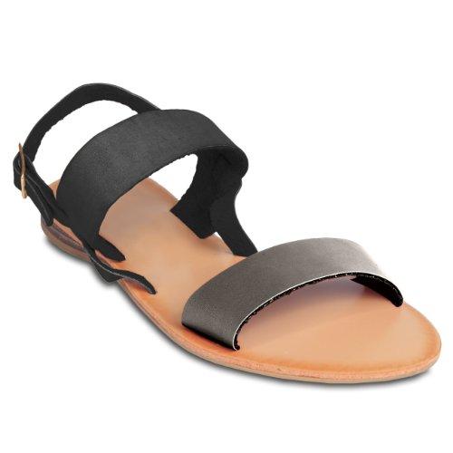 Pour Cuir En Sandales Caspar Plusieurs Ssa011 Coloris Bicolores Femme Sandalettes Gris Foncé 5TaqawX