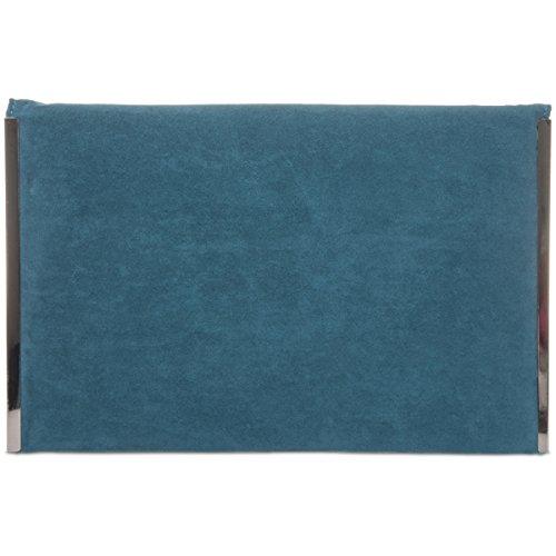 Clutch Evening Women Faux Xardi UK Bag Suede Flat New Designer Medium Ladies London Teal Envelope xCwTwqI
