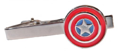 Marvel Comics CAPTAIN AMERICA Silvertone/Enamel TIE CLIP (Twenties Costume Ideas)