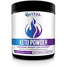 Keto Powder for Weight Loss - BHB Salts - Exogenous Ketone Performance Complex - Formulated for Ketosis, Energy, Focus & Fat Burn - Beta-Hydroxybutyrates (Calcium, Sodium, Magnesium)