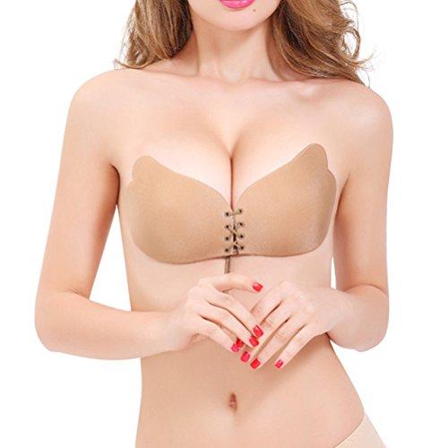 86b5cba2a3 Women Strapless Bra Self Adhesive Wing Shape Silicone - Import It All