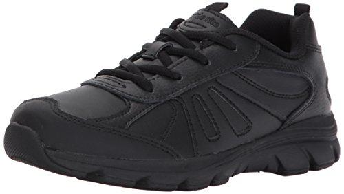 Stride Rite Boys' Cooper 2.0 Lace Sneaker, Black, 5 M US Big Kid (5 Black Leather)