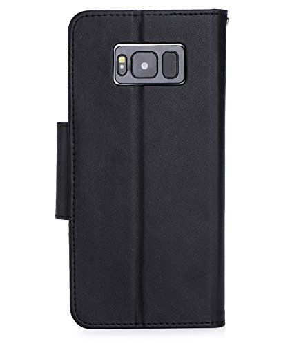 ProCase Galaxy S8+ S8 Plus Wallet Case, Flip Kickstand Case with Card Slots Mirror Wristlet, Folding Stand Protective Cover for Samsung Galaxy S8+ 2017