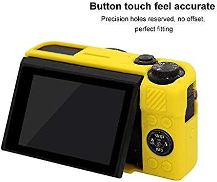 GuiPing Soft Silicone Protective Case for Canon EOS G7 X Mark II Durable Color : Black
