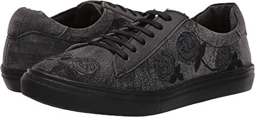 Roper Women's Madeline Black Sanded Leather/Rose Embroidered Upper 11 M US ()