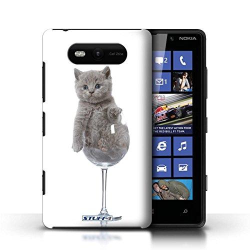Etui / Coque pour Nokia Lumia 820 / Verre de vin conception / Collection de Chatons mignons