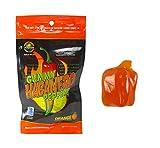 Habanero Pepper Gummy With Habanero Oil - Orange Flavor - 1.75oz Retail Bag Large Gummy - Strong Heat Level