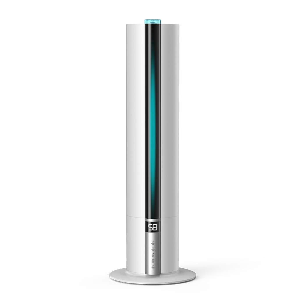 7.5L Aroma-Diffusor-Luftbefeuchter mit großer Kapazität, Stehender Luftbefeuchter für Säulen, Geeignet für Home Office (Color : White)