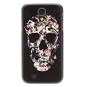 GONGXI Fashion Designed Man-Shaped Flower Skull Pattern Protevtive Hard Back Case for Samsung Galaxy S4 I9500