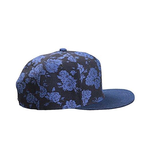 [Baseball Cap/Graffiti hip-hop flat-brimmed hat/ spring shade sun protection hat-B adjustable] (Hip Hop Felt Hat With Feather)