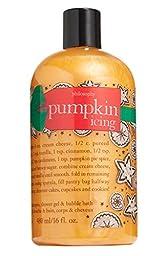 Philosophy Pumpkin Icing Shampoo, Shower Gel & Bubble Bath 16 Oz