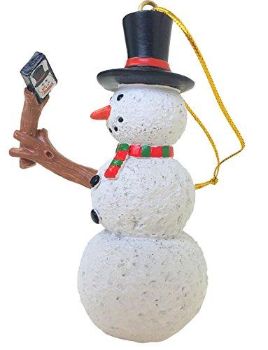 Tree Buddees Selfie Stick Snowman Christmas Ornament