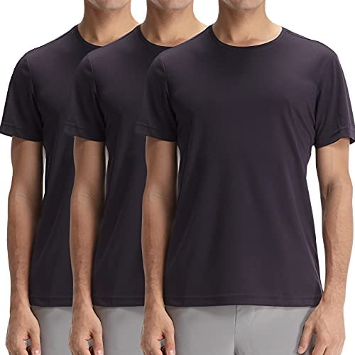 CASEI 3PACK WHITE T SHIRTS FOR MEN SHORT SLEEVE WORKOUT RUNNING ATHLETIC SHIRTS