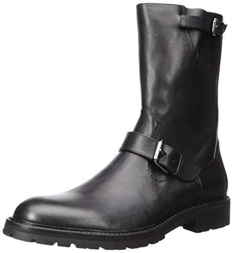 Calvin Klein Men's UGILIO Mid Calf Boot, Black Dress, 12 M US ()