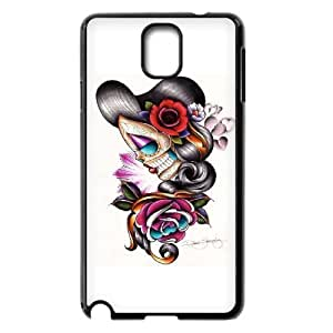 Customized Art Sugar Skull Figures Tattoo Cell Phone For Case Iphone 5C Cover with Sad Girl _3488336